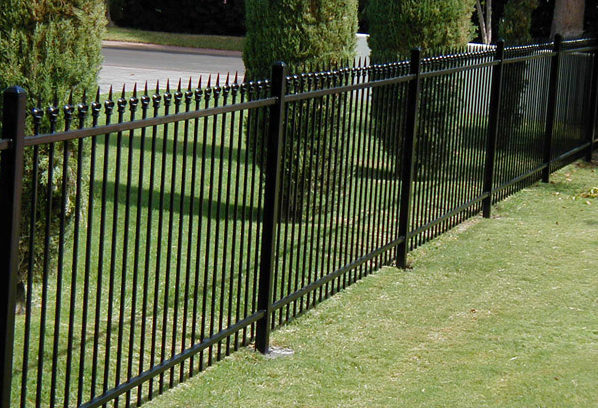Extended Picket Wrought Iron Metal Fences